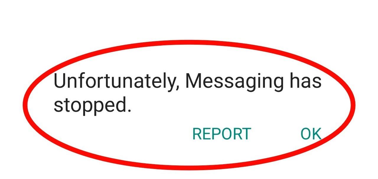 Fix Leider Messaging wurde gestoppt Auf Android